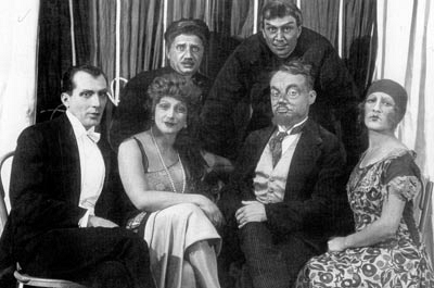 "Mikhail Bulgakov read his play ""Zoyka's Apartment"" to Vakhtangov Theatre company"
